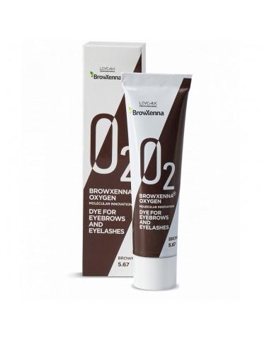 Краска для бровей и ресниц OXYGEN O2, #5.67 brown, BROWXENNA®