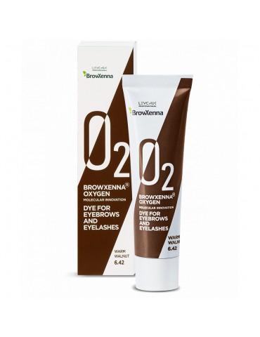 Краска для бровей и ресниц OXYGEN O2, #6.42 warm walnut, BROWXENNA®