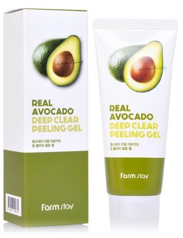 Пилинг-гель для глубокого очищения с авокадо, 100 мл, FarmStay