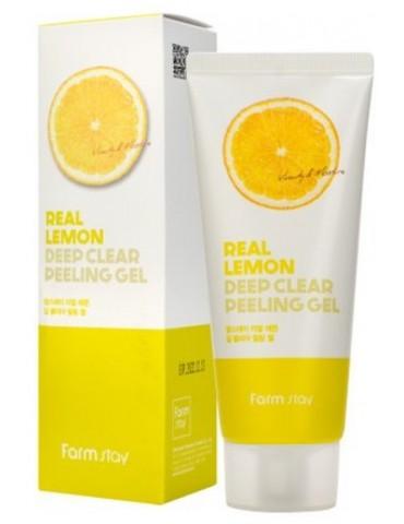 Пилинг-гель с лимоном, 100 мл, FarmStay