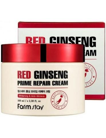 Восстанавливающий крем с экстрактом красного женьшеня, 100 мл, FarmStay