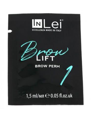 """Перманентный состав для бровей """"Brow Lift 1"""", 1,5 мл, INLEI"""