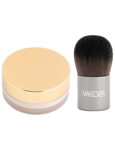 Пудра рассыпчатая с кисточкой Кабуки (Pure natural), F0903, Makeover