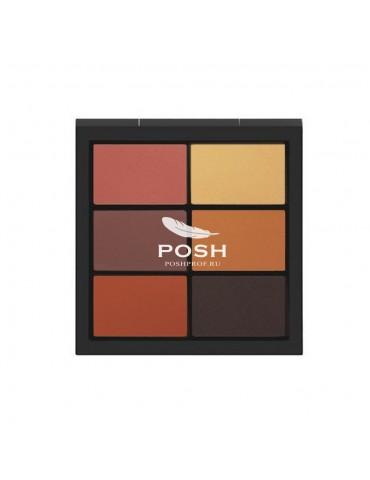 Профессиональная палетка теней для макияжа 6 оттенков, 01 Artist Palette, POSH