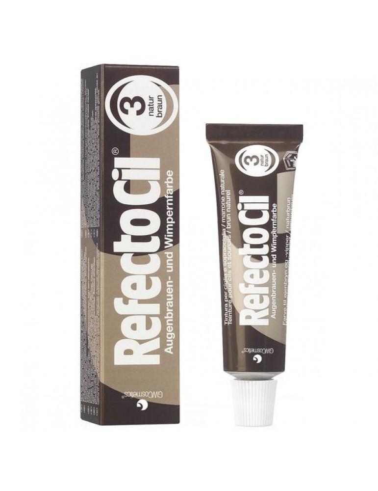 Краска для бровей и ресниц №3 натурально-коричневый, REFECTOCIL