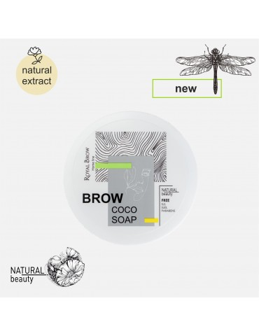 Фиксатор для бровей Brow Soap с экстрактом кокоса, 55 г, Royal Brow