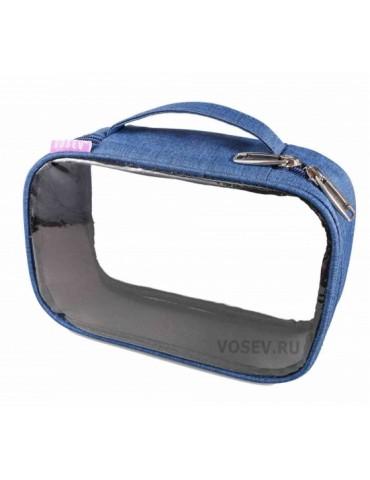 Косметичка (medium size), синий джинс, VOSEV